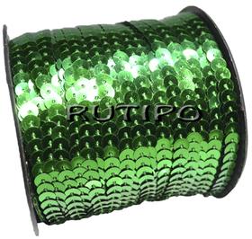 Пайетки на нитке зеленые (простые), 6мм*1м