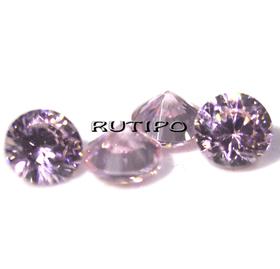 Кубический Цирконий А, Diamond, PearlPink 1мм, шт