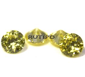 Кубический Цирконий А, Diamond, Yellow 1мм, шт