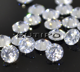 Кубический Цирконий ААА, Diamond, Clear 2мм, шт