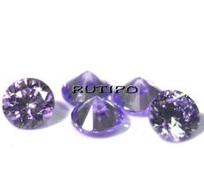 Cubic Zirconia A, Diamond, MediumPurple 2mm, pcs