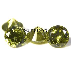 Кубический Цирконий А, Diamond, Olive 1мм, шт
