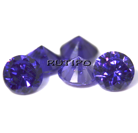 Кубічний Цирконій А, Diamond, Mauve, 7мм, шт