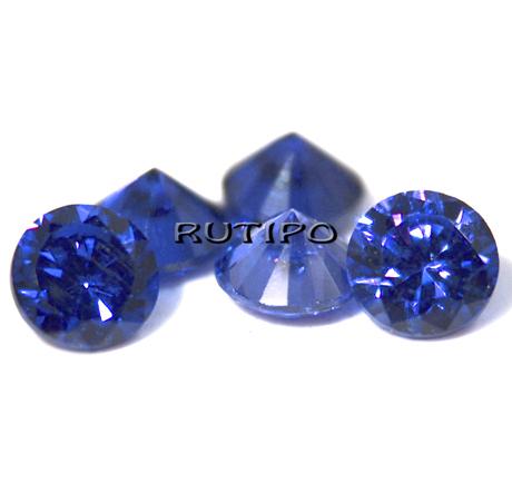 Кубічний Цирконій, Diamond, Blue 8мм, шт