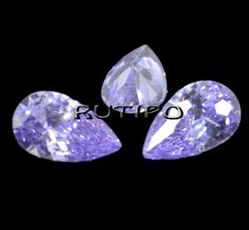 Кубический Цирконий ААА, Pear, Lilac 8*5мм, шт
