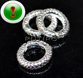 Соединительное кольцо под серебро 14мм, шт
