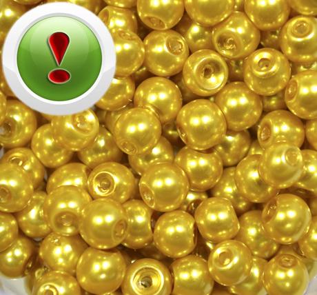 Намистина під перли Gold, 10 мм, шт