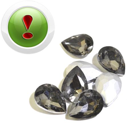 Крапля для інкрустації Black Diamond 18 * 13мм, шт