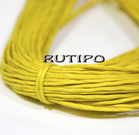 Вощеный шнур лимонно-желтый, 1мм*1м