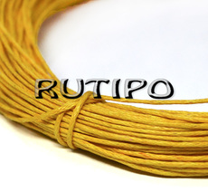 Вощеный шнур желтый, 1мм*1м