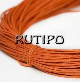 Вощеный шнур оранжевый, 1мм*1м