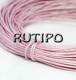 Вощеный шнур светло-розовый, 1мм*1м