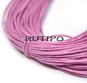 Вощеный шнур розовый, 1мм*1м