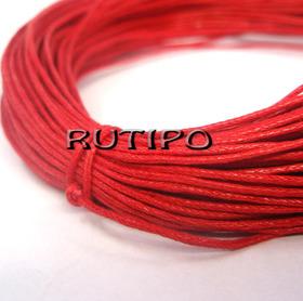 Вощеный шнур красный, 1мм*1м