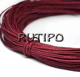 Вощеный шнур темно-красный, 1мм*1м