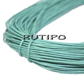 Вощеный шнур зеленый мятный, 1мм*1м