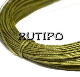 Вощеный шнур оливковый, 1мм*1м