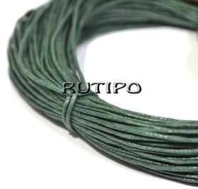 Вощеный шнур темно-зеленый, 1мм*1м