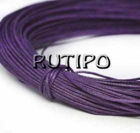 Вощеный шнур фиолетовый, 1мм*1м