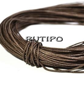 Вощеный шнур коричневый, 1мм*1м