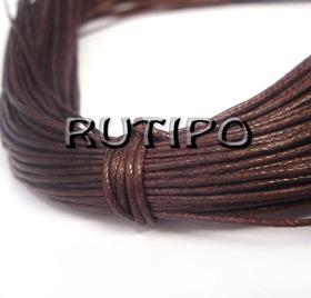 Вощеный шнур темно-коричневый, 1мм*1м