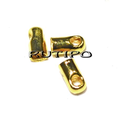 Концевик под золото, 4.5*2.1мм (в\д 1.5мм), 100шт
