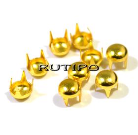 Заклепка-краб под золото, 5мм, шт.