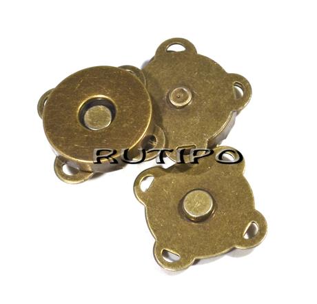 Кнопка магнітна пришивна під бронзу, 19 * 19мм, шт