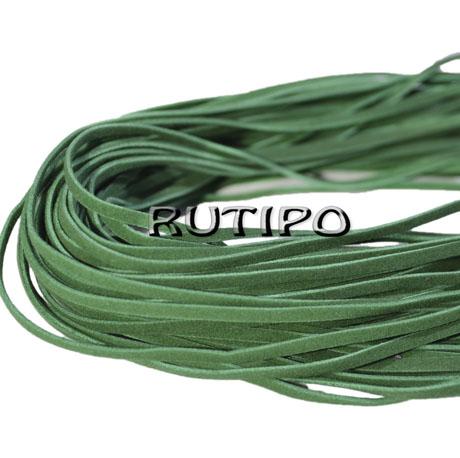 """Шнур """"искусственная замша"""" зеленый, 3*1мм*1м"""