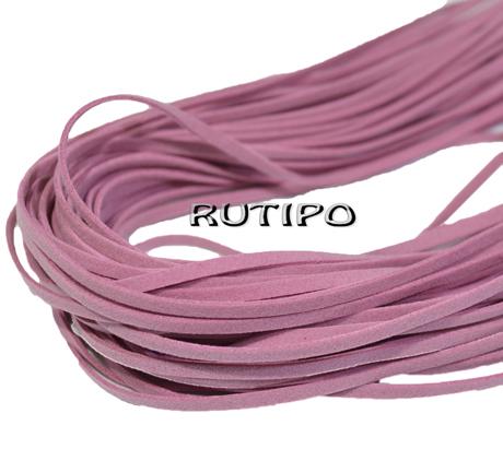 """Шнур """"штучна замша"""" рожевий, 3 * 1мм * 1м"""