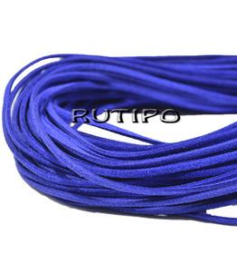 Шнур замшевий синій, 2.5 * 1.5 мм * 1м