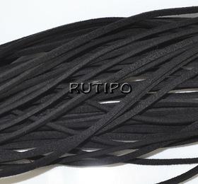 Шнур замшевий чорний, 2.5 * 1.5 мм * 1м