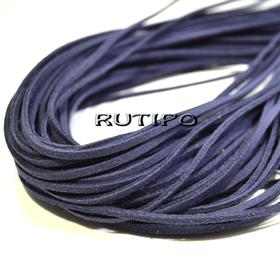 Шнур замшевий темно-синій, 2.5 * 1.5 мм * 1м
