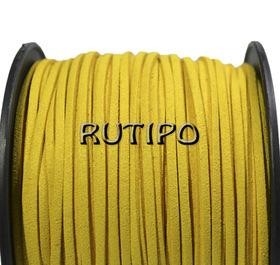 Шнур замшевый желтый, 3*1.5мм*1м