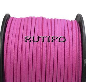 Шнур замшевый розово-малиновый, 3*1.5мм*1м