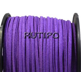 Шнур замшевый фиолетовый, 3*1.5мм*1м